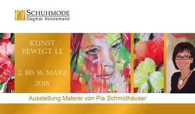 Kunst bewegt LE: Pia Schmidhäuser bei Schuhmode Nennemann