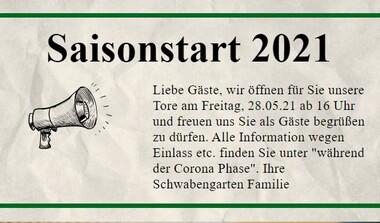 Kommt in den Schwabengarten - Freitag 28.05. ab 16 Uhr wieder geöffnet