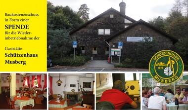 Spendenaufruf: Baukostenzuschuss zur Wiedereröffnung Gaststätte Schützenhaus Musberg
