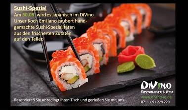 Sushi-Spezial mit Sushi-Meister im DiVino