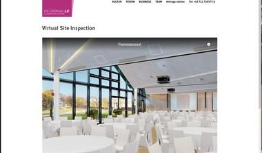 Mit der virtuellen Site-Inspection die FILDERHALLE realitätsnah entdecken