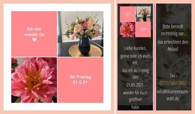 BlütenRaum Stetten, ab 21.05. wieder geöffnet