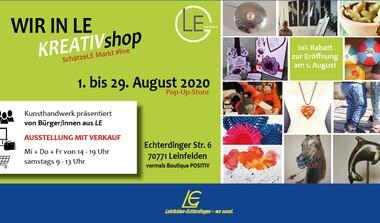 Pop-up-Store eröffnet am 1. August in Leinfelden. 4 Wochen Kundhandwerk stationär
