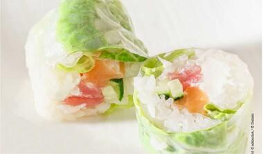 Spitzkraut-Sushi
