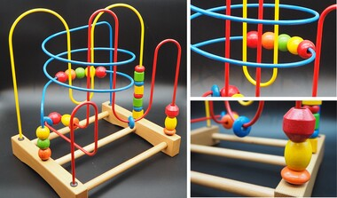 Motorikschleife aus Holz - Labyrinth - 3verschiedene Schleifen | Kinder ab 3 Jahren