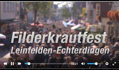 Embedded thumbnail for Filderkrautfest in LE (2:21 Min)