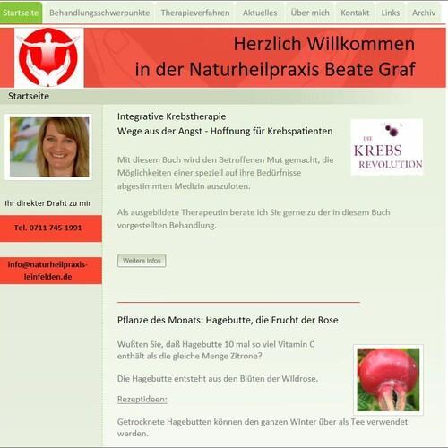 Aktualisierte Homepage