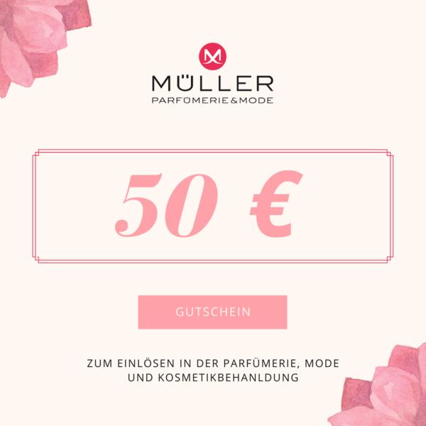 Geschenkgutschein - Wert 50 Euro für Mode, Parfümerie, Kosmetikbehandlung
