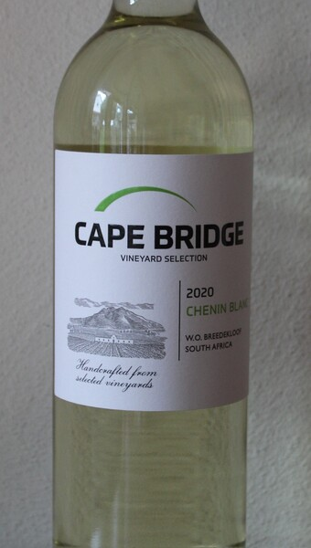 6 Flaschen 2020 Chenin Blanc Breedekloof WO CAPE BRIDGE Südafrika