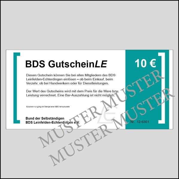BDS GutscheinLE - Wert 10 Euro