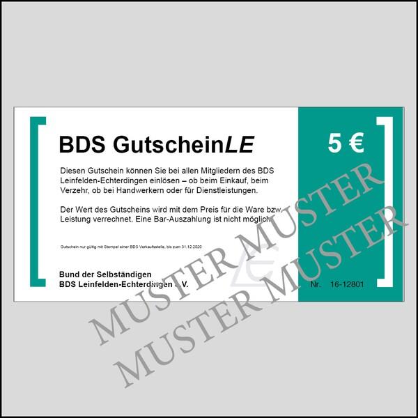BDS GutscheinLE - Wert 5 Euro