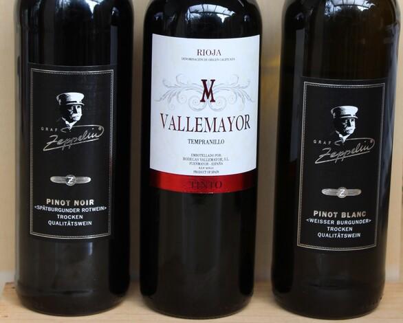 Weinprobe Zeppelin-Weine aus Baden und Rioja