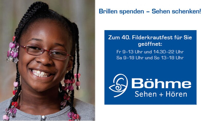 Brille spenden - Sehen schenken. Spendenaktion mit Gutschrift