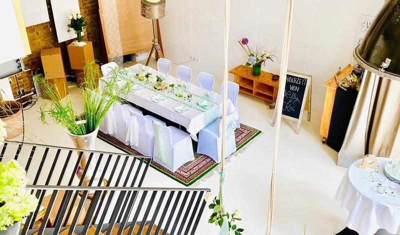 Durchfeiern in eleganter Loft. Weddings & more organisiert unvergessliches Event.