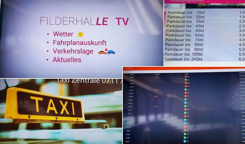 """Das neue """"Filderhalle TV"""" informiert seine Gäste"""