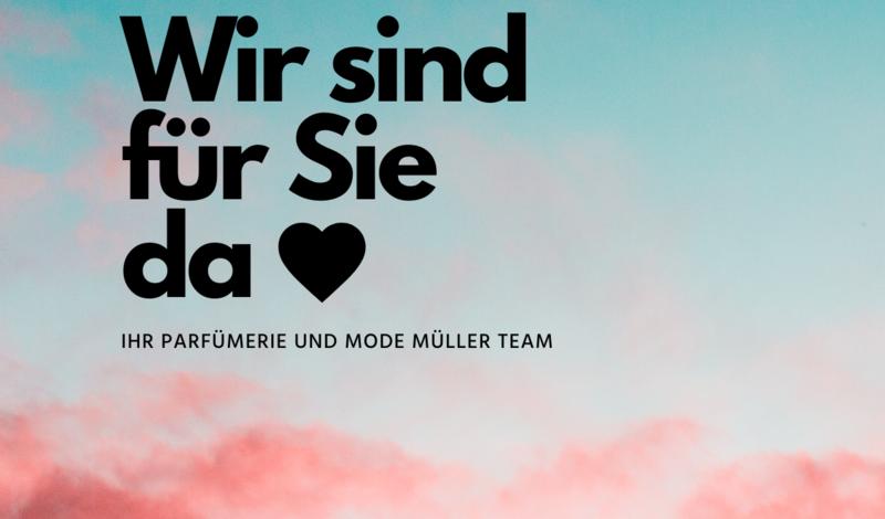Müller Parfümerie + Mode liefert frei Haus