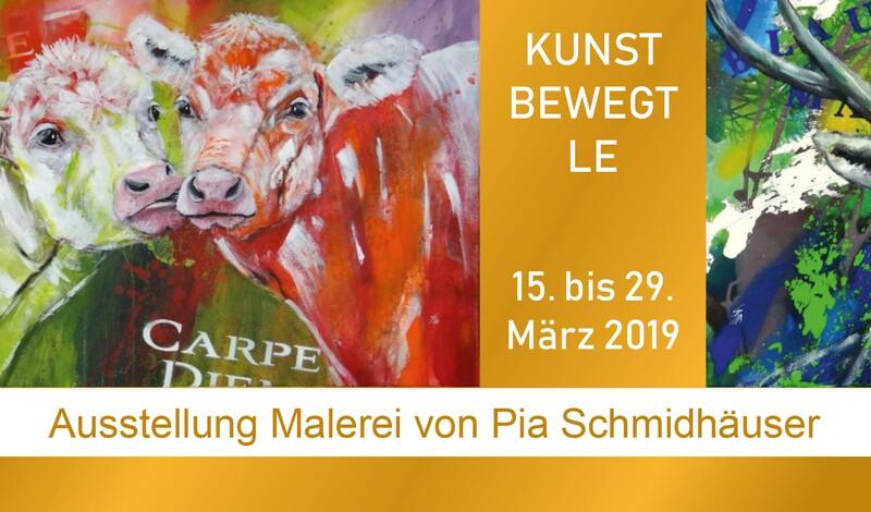 Einladung zur Vernissage mti Pia Schmidhäuser