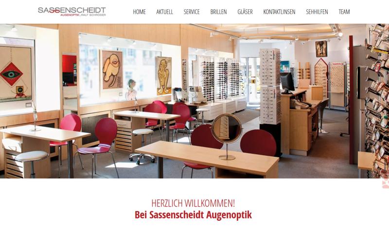 Sassenscheidt Augenoptik informiert mit neuer Website