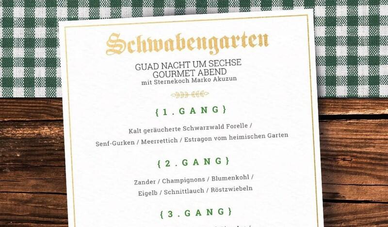 Gourmet Abend: Guad Nacht um Sechse