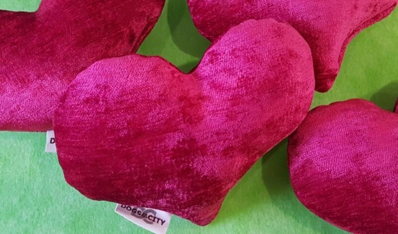 Plüschkissen zum Valentinstag - nicht nur für Ihre Vierbeiner