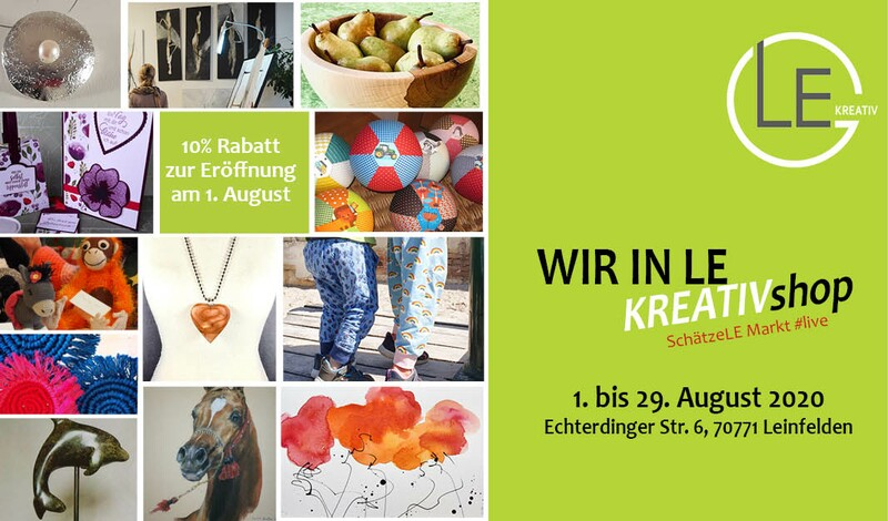 WIR IN LE Pop-Up KREATIVshop in Leinfelden  (1. - 29.08.)
