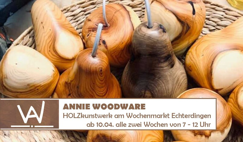 Holzkunstwerk alle 2 Wochen auf dem Wochenmarkt Echterdingen
