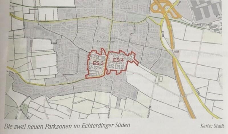 Langfristiges Parken verhindern: neue Parkausweise ab 1. August für Echterdingen fortgesetzt
