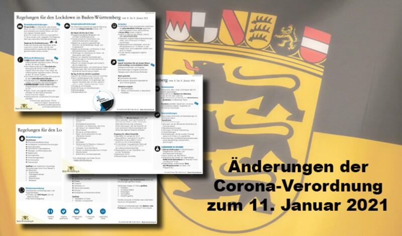 Änderungen der Corona-Verordnung zum 11. Januar 2021
