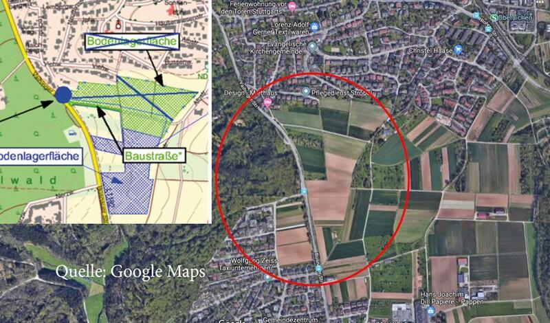 LE kämpft gegen Erdlager / Erdaushub für S-21-Bauarbeiten an der Rohrer Kurve