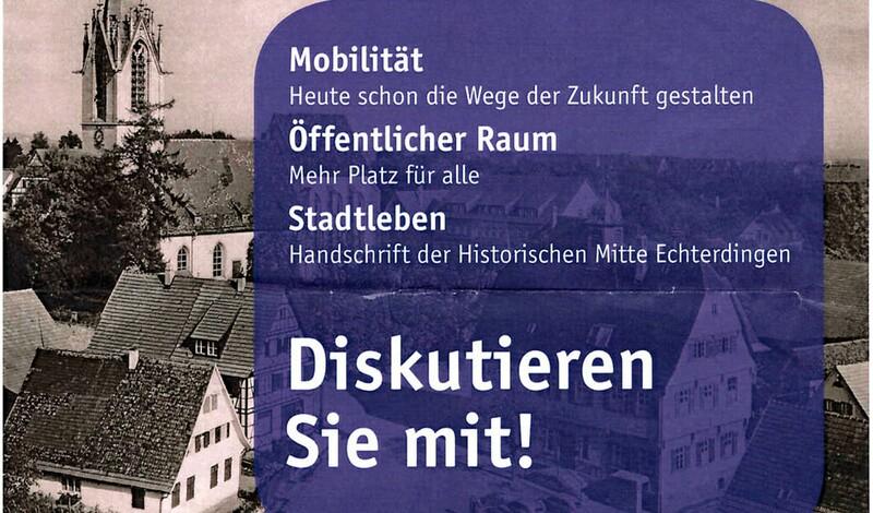 Bürgerbeteiligung: Sanierungsgebiet Historische Mitte Echterdingen