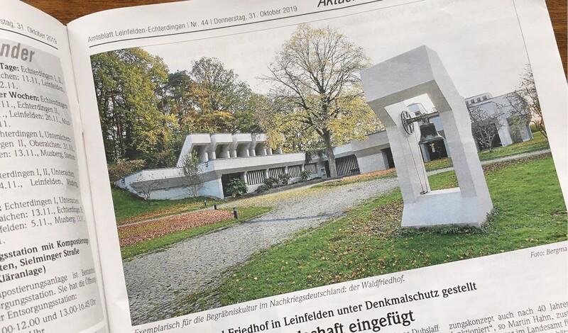Krematorium und Friedhof Leinfelden unter Denkmalschutz
