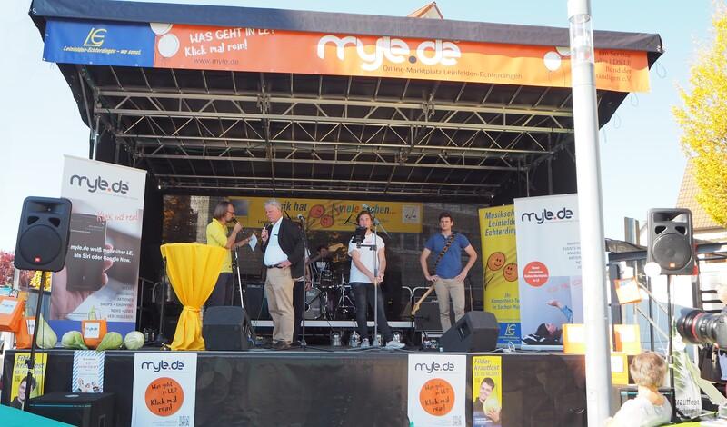 Was ein Auftritt: myle.de mit Jubiläumsbühne am Zeppelinplatz