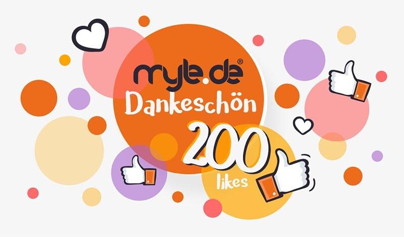 myle.de hat 200 Like auf Facebook