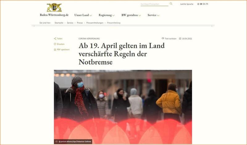 Notbremse der Bundesregierung ab 19.04. - Click+collect erlaubt