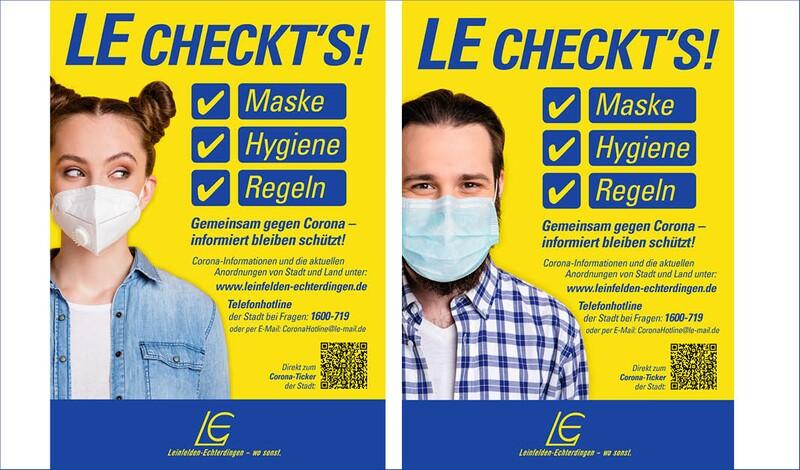 Plakate: LE checkt's -  aktuell geltende Hygieneregeln auf einen Blick