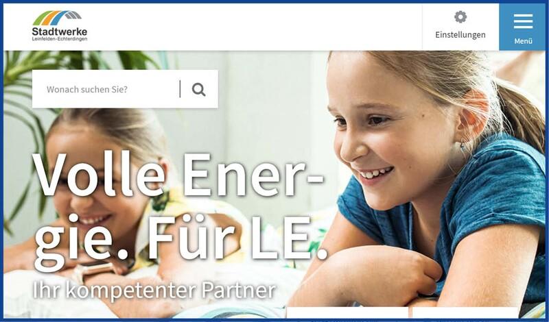 Stadtwerke Leinfelden-Echterdingen launcht neue Homepage