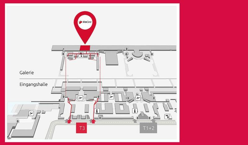 Besucherzentrum Terminal 3: EcoCare-Testcenter bietet Corona-Tests für Passagiere und Besucher