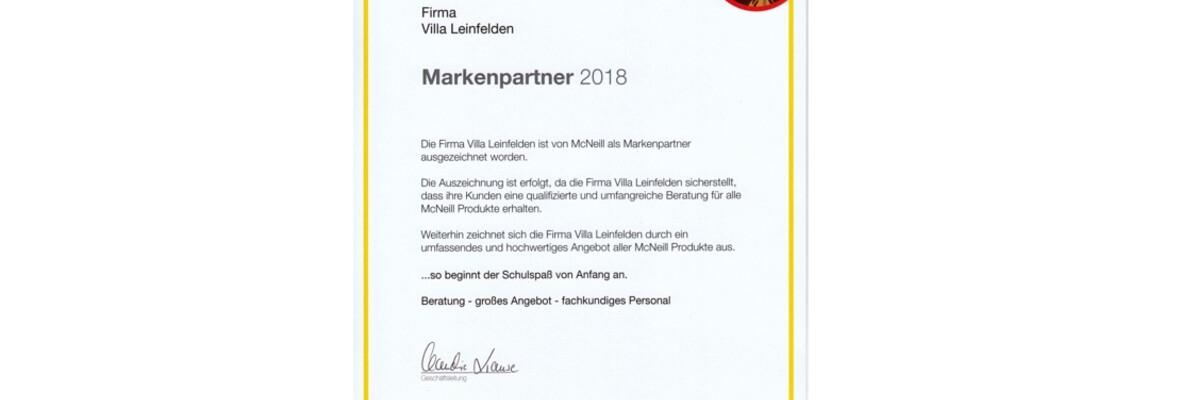 Villa Leinfelden ausgezeichneter Markenpartner von McNeill