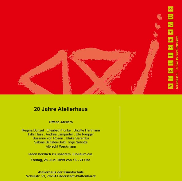 Ausstellung 2019: 20 Jahre Atelierhaus der Kunstschule Filderstadt