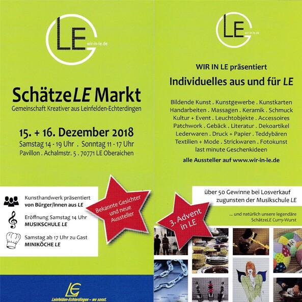 Ausstellung 2018: SchätzeLE Markt LE Oberaichen